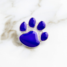 Purple Dog paw pin Cat Kitten Paw Brooch Collar Corsage Shirt bag cap Jacket Pin Badge Gift Cute Cartoon Jewelry for pet owners