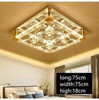 IWHD LED Ceiling Light Modern K9 Crystal Ceiling Lighting Fixtures Plafondlamp Living Room Plafon PTricolor Dimming