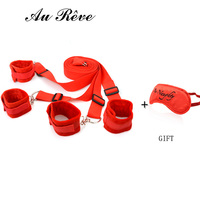SM Under Bed Bondage Restraint Kit with Hand Cuffs and Ankle Cuff BDSM Bondage Sex Product For Adult Game Free Shipping Au Reve