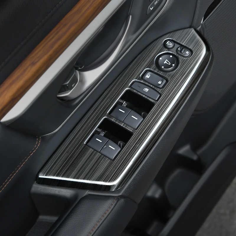 For Honda CRV 2017-2019  Black titanium Car Interior window switch panel Tirm