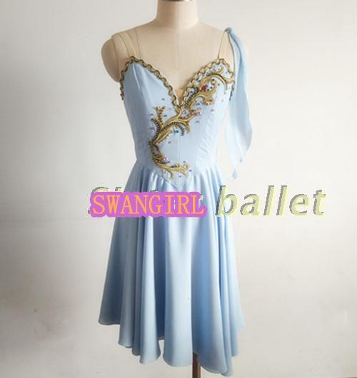 Cupidon danc jupes rose pêche fée professionnel de danse robes adulte bleu cupidon de danse costume SB0016