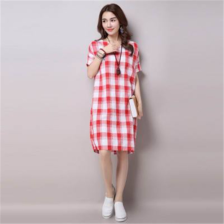 new summer maternity dresses cotton check womens dresses pregnancy dresses maternity clothing summer clothing 16419