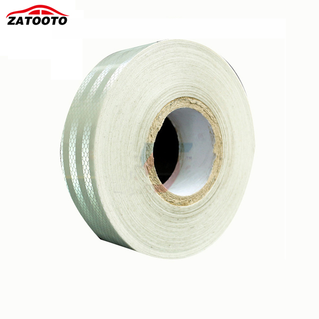 """2""""*150' High Quality White Trailer Reflective Warning Conspicuity Tape conspicuity strips Trailer Truck Safety"""