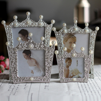 6 Inch Metal Photo Frame Picture Frame Photo Frame Diamond Pearl Swing Sets Photo Frame Gift