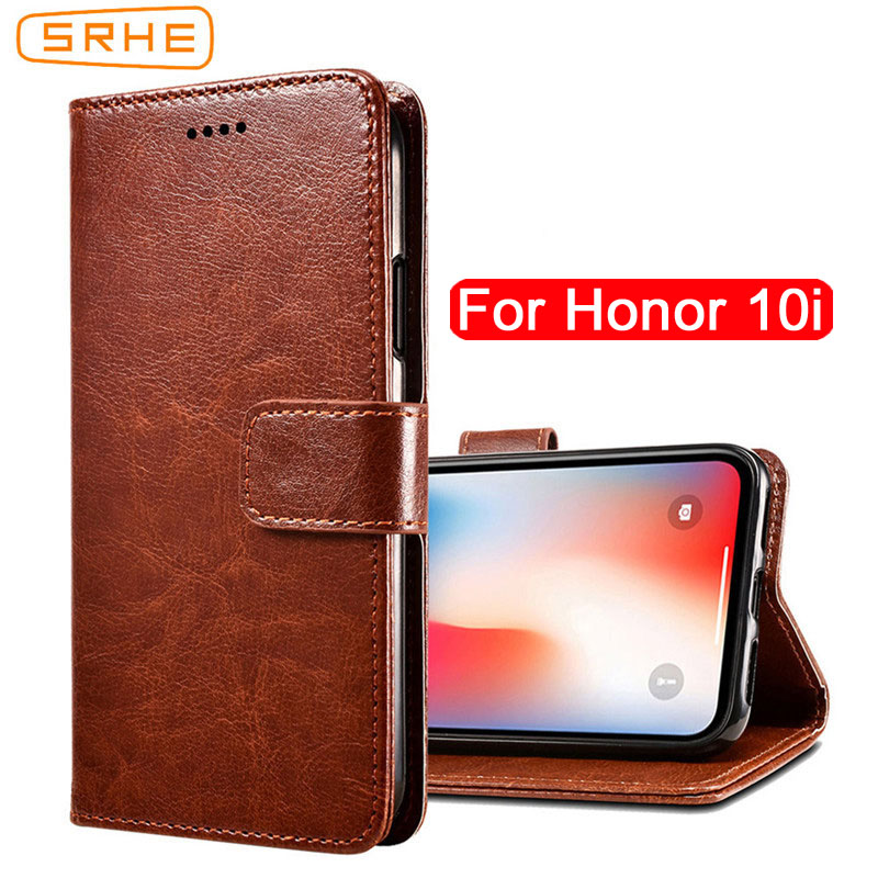 SRHE For Huawei Honor 10i Case Cover Flip Luxury Leather With Magnet Wallet Case For Huawei Honor 10i HRY-LX1T Phone Cover