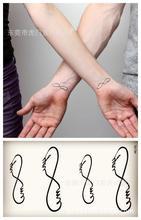 Body Art Waterproof Temporary Tattoos For Men Women Couples 3d Letters Design Flash Tattoo Sticker HC1053