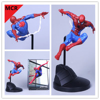 MCR NEW 18cm The avengers Spiderman Figure Superhero Action Figures Collection Kids DIY PVC Gift Toys In Box
