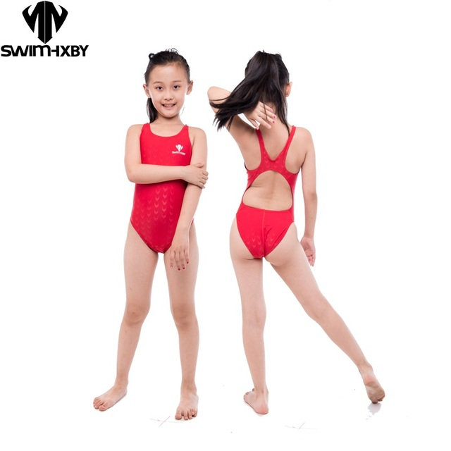 0df3ec5a18d59 HXBY Racing Training Kids Swimwear For Girls Bathing Suits Children One  Piece Swimsuit Girls Swim Wear Swimsuits Swimming S