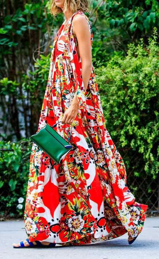 Z-ZOUX женское платье с v-образным вырезом без рукавов на бретельках богемное платье сексуальные винтажные длинные платья макси с цветочным принтом женские большие размеры 2019 Новинка