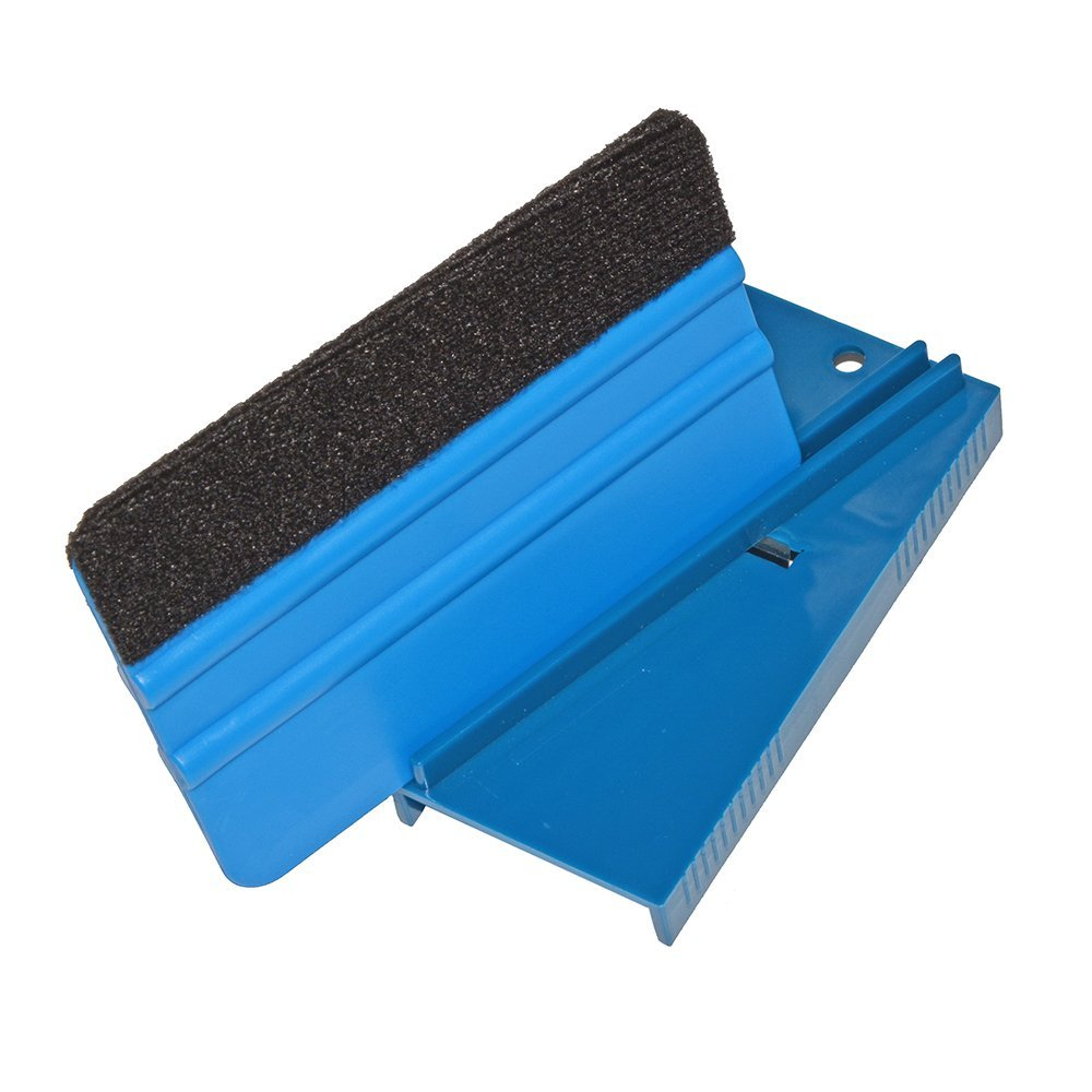 Image 2 - EHDIS Vinyl Film Car Wrap Ice Scraper Repair Tool Plastic Blue Squeegee Trimmer Hard Card Sharpening Tool skiving knife tool-in Scraper from Automobiles & Motorcycles