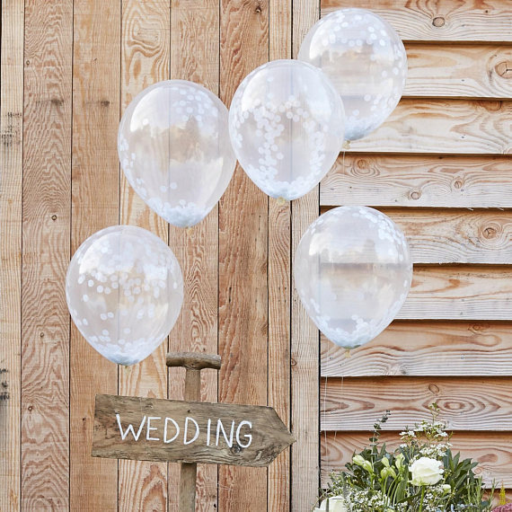 6pcs 12ich Wedding Summer White Confetti Ballons Birthday Party Decoration Supplies Kids Toys Globos Balloons Baby Shower DIY