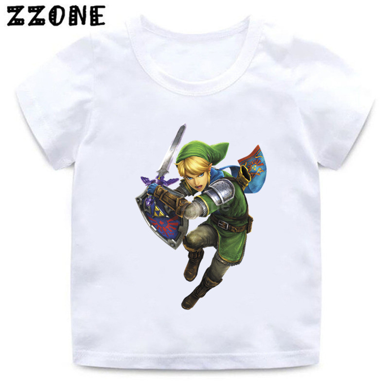 Boys/Girls The Legend Of Zelda Triforce Character Print T Shirt Kids Summer Clothes Children Funny Casual Baby T-shirt,ooo5245