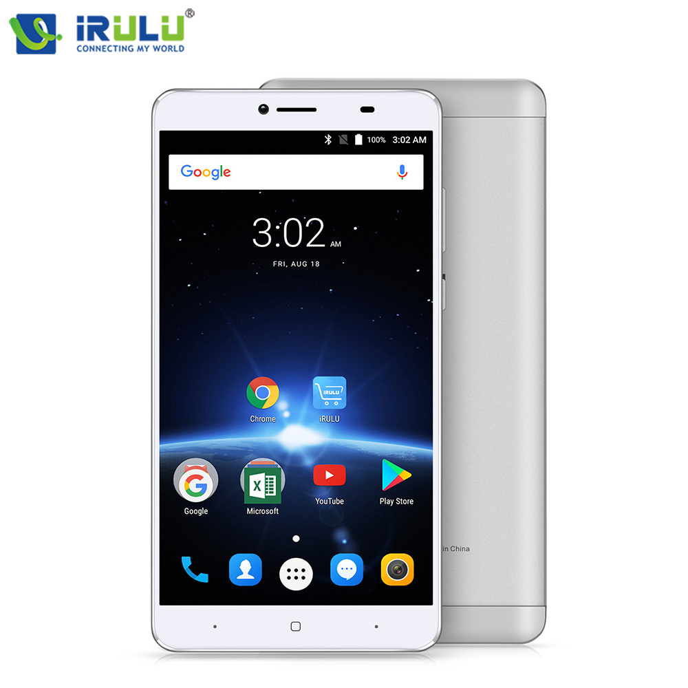 iRULU GeoKing 3 Max Smartphone 6.5 FHD Android 7.0 Octa Core 3G+32G Rear Camera 13.0 MP 4300mAh Dual SIM Cell Phone US Version