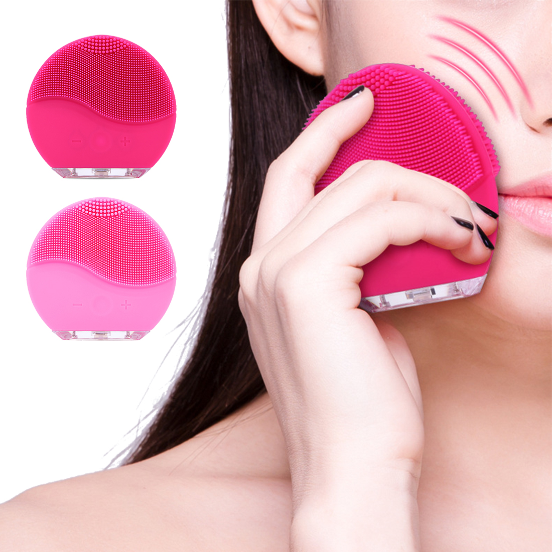 Super Soft Silicone Waterproof Ultrasonic Pore Clean Device Electric Facial Brush Cleaner Facial Skin Care Spa Massager