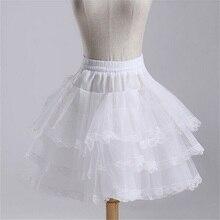 2014 Brand New Short Petticoat Stock White Hoopless Wedding Accessories 3 Layer Crinoline Bridal Lady Girls Children Underskirt