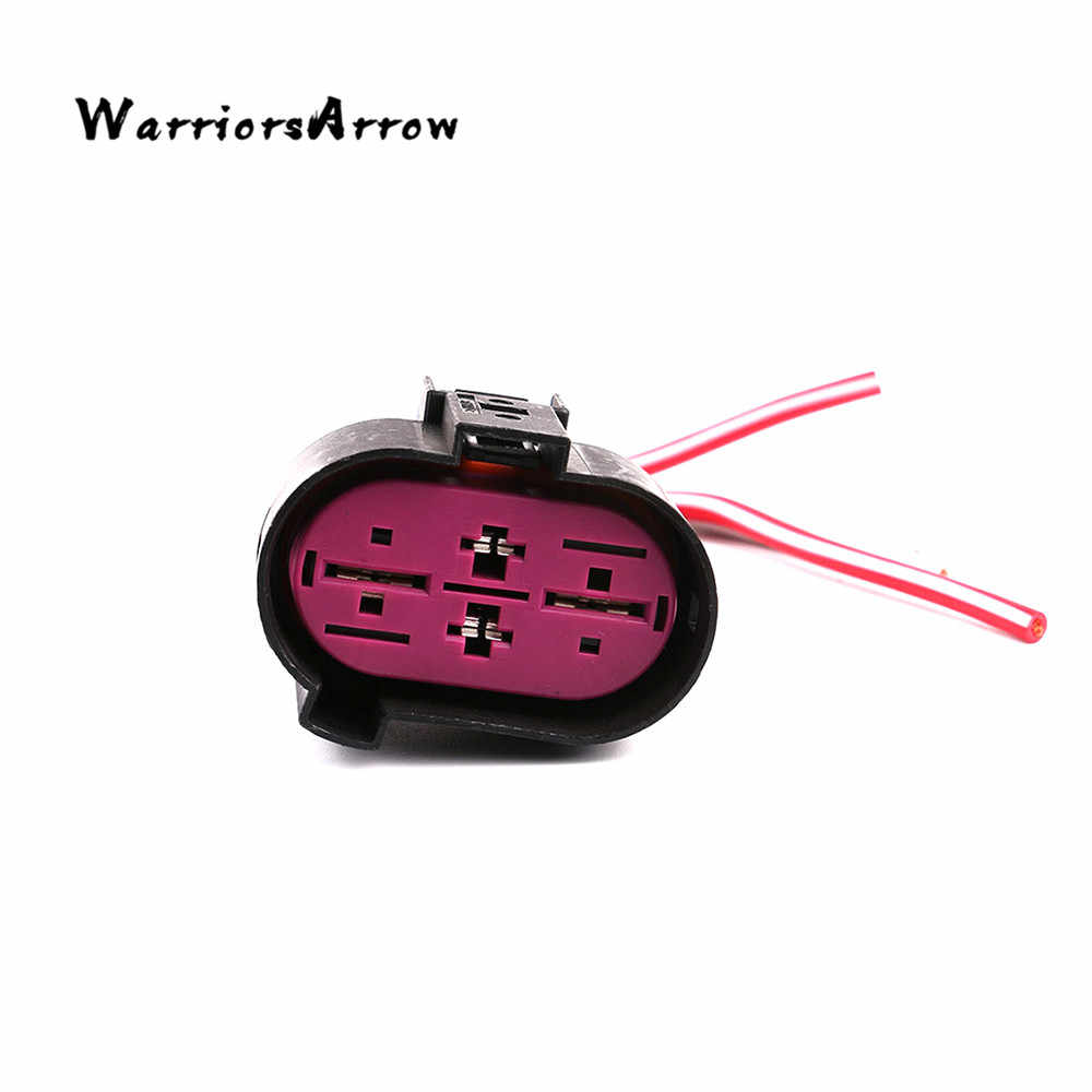warriorsarrow cooling fan wiring harness plug connector 4-pin for vw passat  beetle eos golf