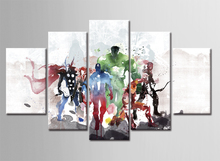 5 Piece Cartoon Game Canvas Paintings On Paint Cuadros Wall Art Home Decorative Pictures Posters the