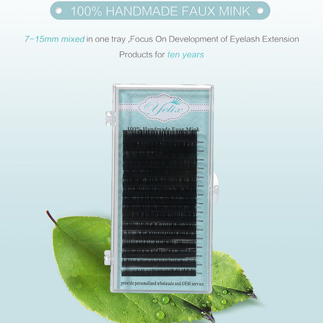 1 Box/set Eyelashes Natural False Eye Lashes Mink Cilios Posticos Individual Eyelash Extension Fake Kirpik Silk Lash Human Hair 2