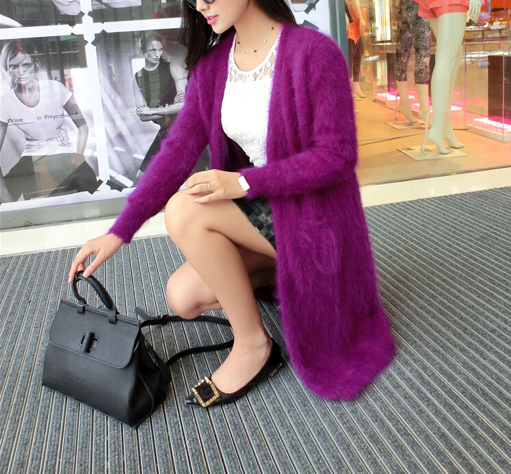 2019 New Custom Real Mink Cashmere Sweater Lining Nature Pure Mink Cashmere Cardigans Wholesale Big Size