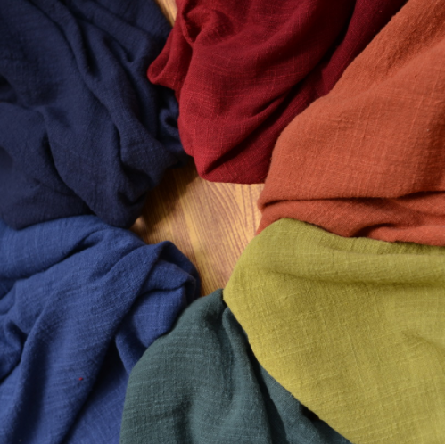 Mylb 130 センチメートル × 50 センチメートル薄型無地砂洗浄処理綿リネン布スラブソフト生地 diy ドレスローブ服手作り