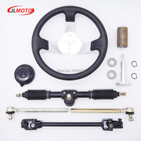 300mm Steering Wheel 420mm Gear Rack Pinion 380mm U Joint Tie Rod Knuckle Assy Fit For