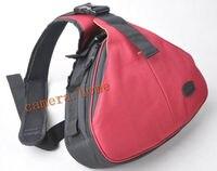 portable Red waist Camera Bag Case For Canon EOS Nikon Sony Olympus Pentax jvc