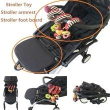3pcs/set stroller accessories armrest and yoyo toy and extend foot board PU leather bumper bar for Babyzen Yoyo yoya люлька комплект люльки для новорожденного babyzen newborn pack black для yoyo