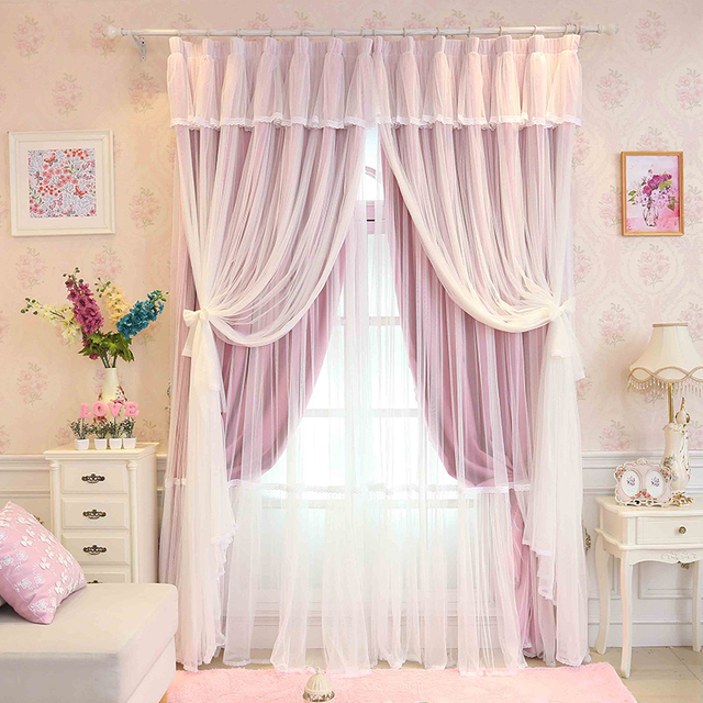 Awesome Custom Made Princess Beauty 3 Layers Curtain For Girlu0027s Bedroom Lace Sheer  Tulle Princess Curtain Living