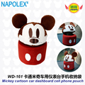 Car Accessories cartoon Mickey mouse car dashboard cell phone pocket WD-161 freeshipping
