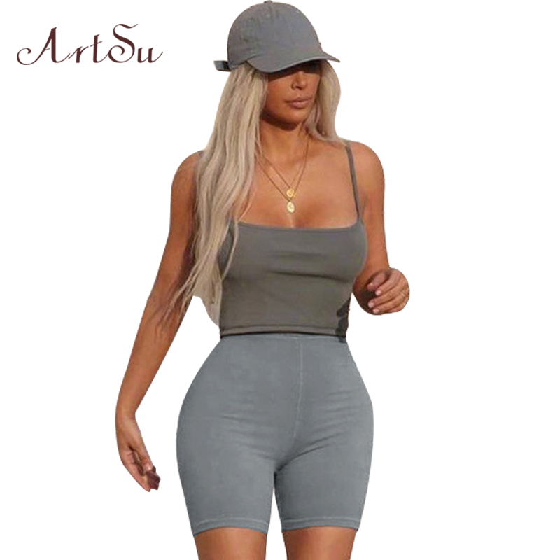 ArtSu Fashion Women Shorts High Waist Slim Short Feminino Sexy Outdoor Club Party Elastic Short Pants Female New ASSH40043