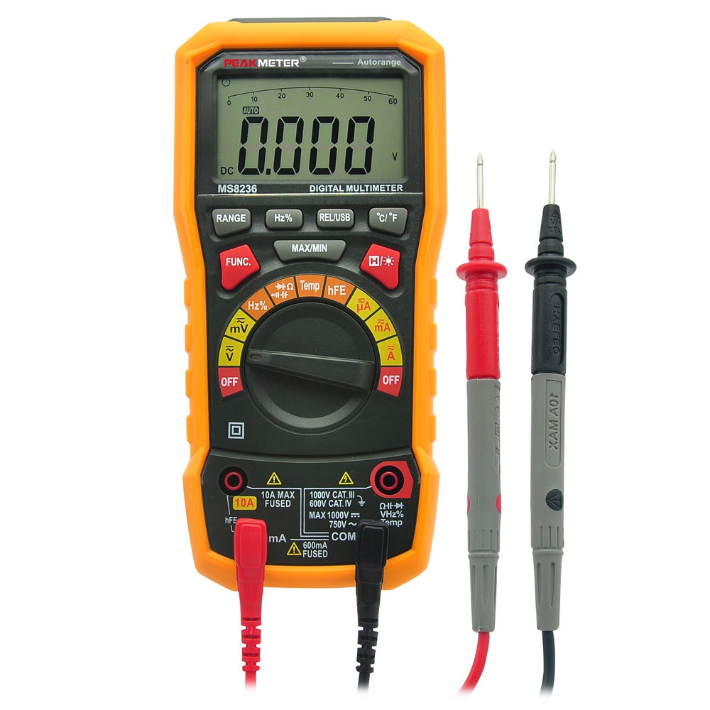 PEAKMETER PM8236 Auto manual Range Digital Multimeter AC/DC Auto Range Multimeter Temperature capacitance frequency Test uni t ut70b lcd digital multimeter auto range frequency conductance logic test transistor temperature analog display