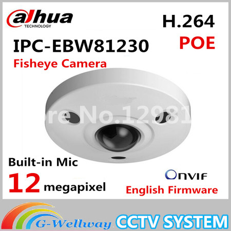 Dahua IPC-EBW81230 12MP Ultra HD Vandal-proof IR Network Fisheye Camera IP67 replace IPC-EBW81200 12 megapixel монитор состава тела omron bf214 hbf 214 ebw