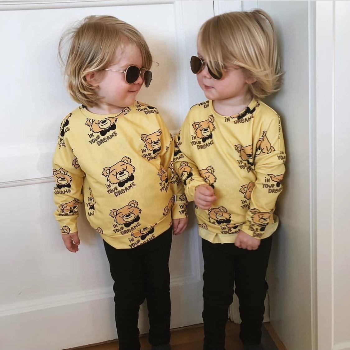 2021 Autumn Kids Long Sleeve T-shirt Sweatshirt Baby Girls Clothes Boys Jackets Coats Cartoon Tops Vacation Toddler Outfit Tops 5