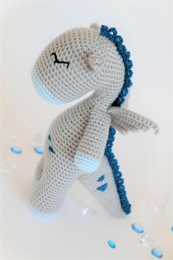Crochet Amigurumi Dragon Stuffed Animal baby Toy doll rattle-in Baby ...