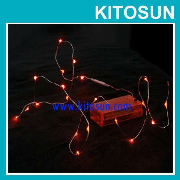 Free shipping!!! Wholesale Battery operated Red Micro led Vine Lights Halloween decor Mini led copper string light