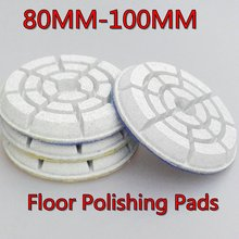 3 inch/80mm,4 inch/100mm,6pcs/lot,10mm height,terrazzo concrete marble,granite,ceramic Wet floor polishing pads