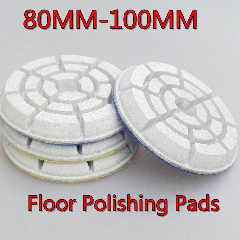 FINGLEE 3 inch/80mm,4 inch/100mm,6pcs/lot,10mm height,terrazzo concrete marble,granite,<font><b>ceramic</b></font> Wet floor polishing pads
