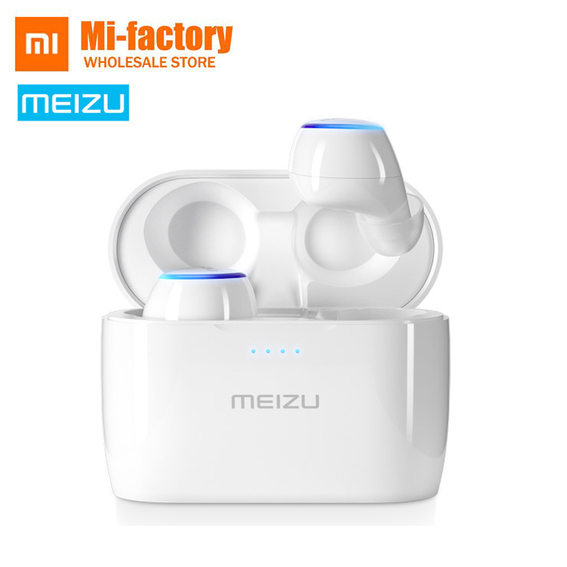 все цены на In Stock Meizu POP TW50 True wireless bluetooth headset Mini Sport Bluetooth 4.2 Earphone Wireless charging IPX5 waterproof онлайн