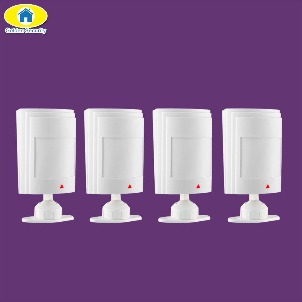 Golden Security 4Pcs Wired PIR Infrared Detector Motion Detector Sensor for All Wired Home Alarm System Security new wolf guard hw m02 wireless wired direction identify curtain pir infrared for home security alarm system