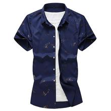 Mens Shirt Bronzing Loose Hawaiian Clothing Slim fit Casual Blouse Beach style Summer 2019