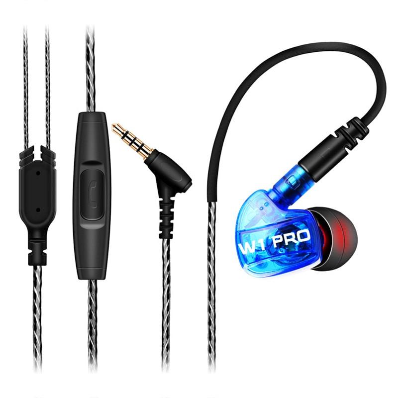 W1 Pro in Ear Earphones fone de ouvido For DJ MP3 Exercising Removable Cable auriculares audifonos fones de ouvido