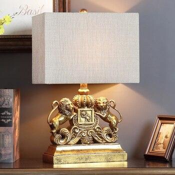 Moderne FÜHRTE EIN Paar Mighty Gold Silber Lions Tisch Lampen Nacht Lampen  für Schlafzimmer Wohnzimmer Home Dekoration Nacht licht