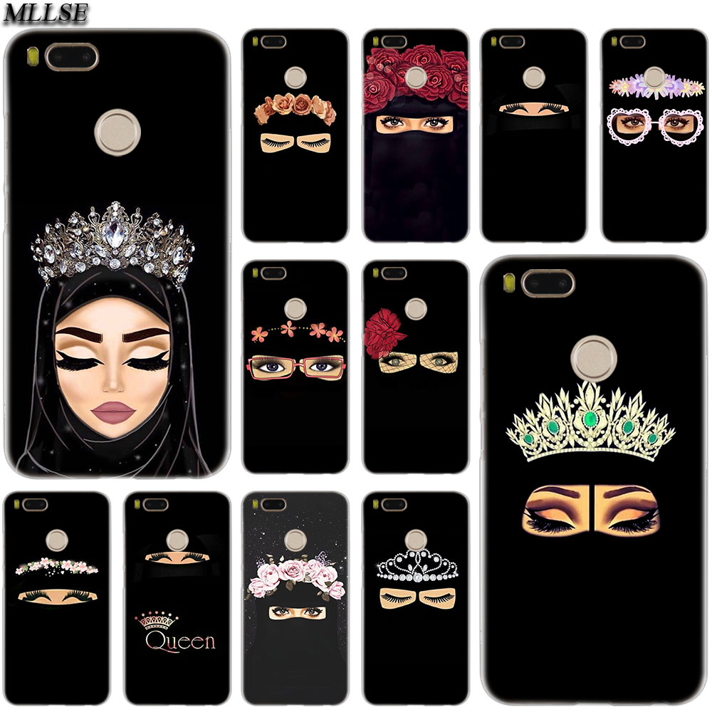 US $1 71 OFF MLLSE Arab Woman With Niqab Face Eye Case For Xiaomi Mi Play Pocophone F1 8 A1 A2 Lite 6 6Plus Mix 3 2S Redmi Note 4x 5 6 S2