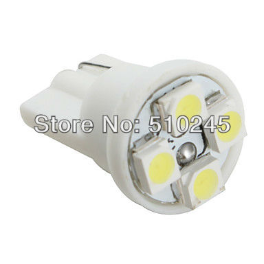 100X Car Auto LED T10 194 W5W 4 led smd 3528 Wedge LED Light Bulb Lamp 4SMD White blue yellow green red free shipping