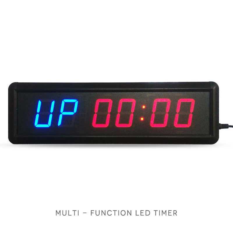 1.8 inch Remote Led Display Countdown Clock Count Up Countdown Timer Voor onderzoek en zwemmen Gebruik Stopwatch Gym / Boxing gym