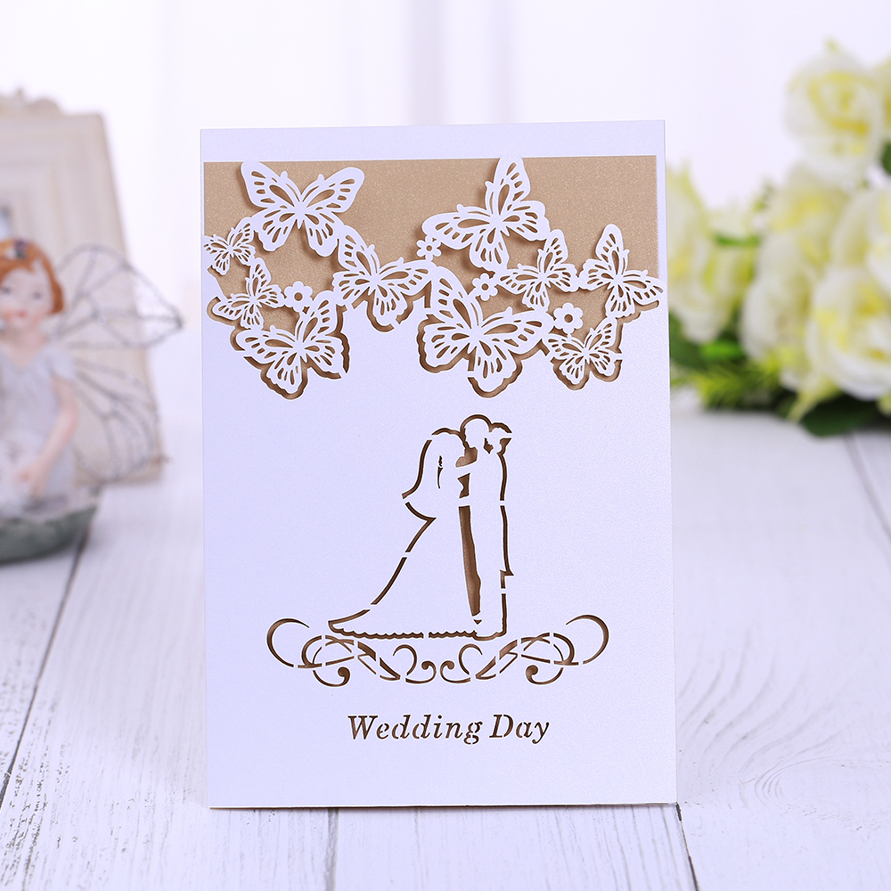 Wedding Invitations Stores: 100 Pieces Luxury Laser Cut Lace Wedding Invitations Card