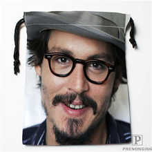 Custom Printing Johnny-Depp (1) Drawstring Shopping Bags Travel Storage Pouch Swim Hiking Toy Bag Unisex Multi Size19-01-04-66(China)