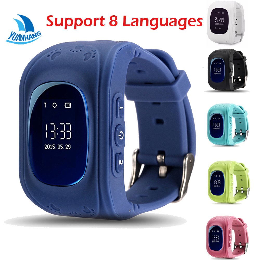 Q50 OLED HD Screen Smart Safe GPS GSM SOS Call Location Locator Tracker Watch Wristwatch for Kids Child Anti-Lost Monitor Baby