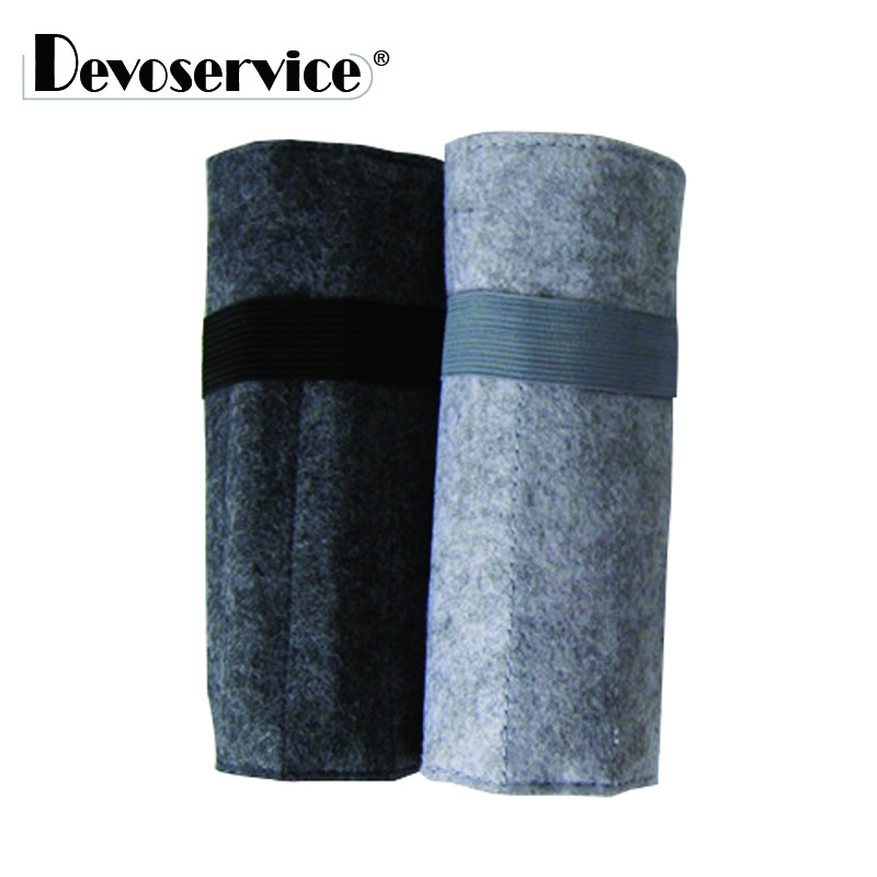 1Pcs New Style Felt Wrap Roll Up Pencil Case Fabric Roller Storage Pen Bag Holder Pen Box Gift Stationery Office School Supplies