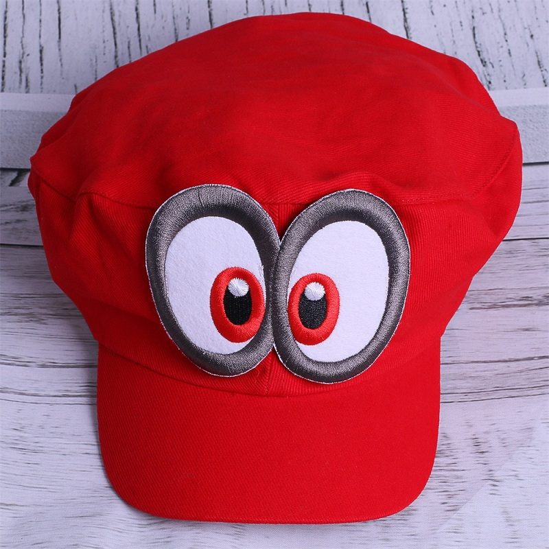 Game Super Mario Odyssey Adult Cap Child Cosplay Handmade Caps (1)